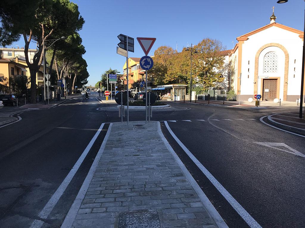Riqualificazione incrocio via Emilia Popilia Rimini
